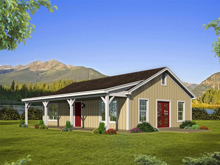 Small Ranch House Plan, 062H-0176