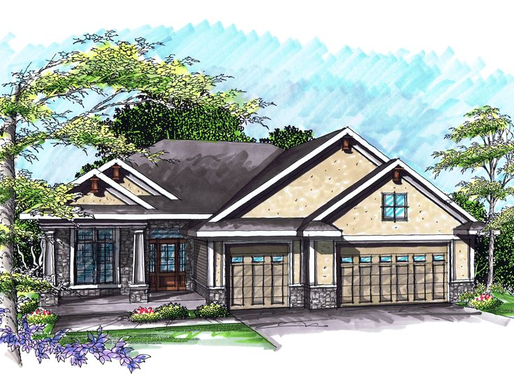 One-Story House Plan, 020H-0240