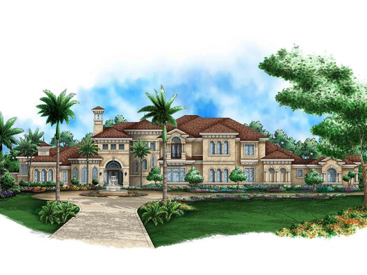 Mediterranean home plans two story mediterranean house for Two story mediterranean house plans