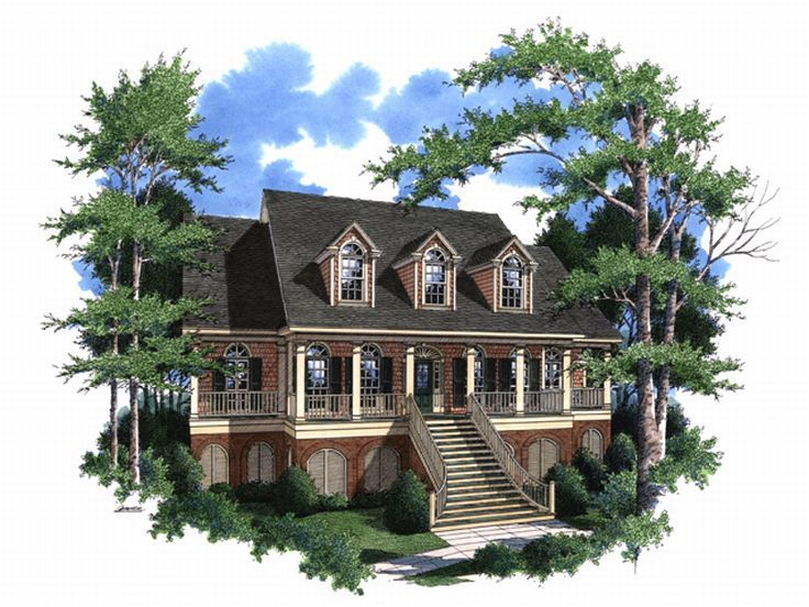 Southern Country Home, 017H-0028