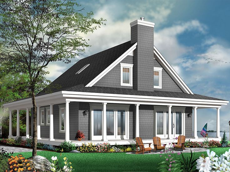 Waterfront House Plan, 027H 0439