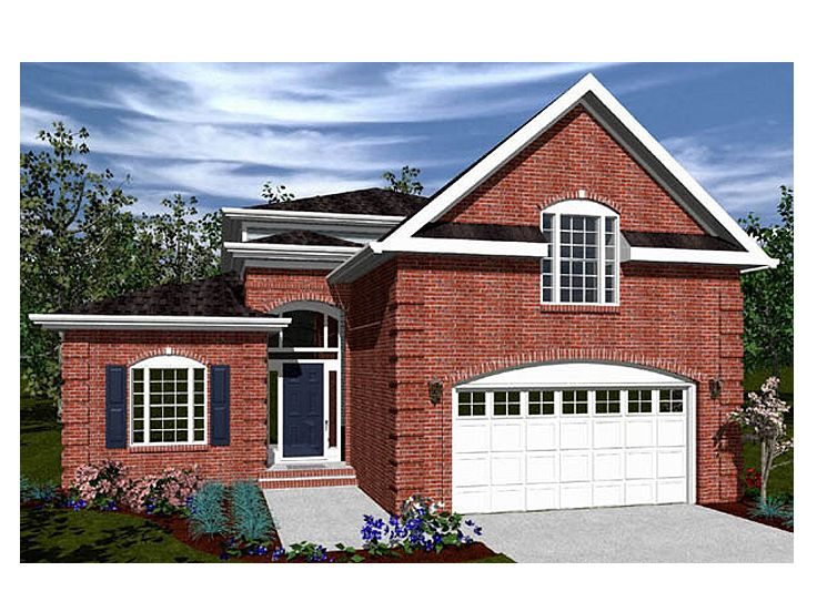 2 story house plans for narrow lots inspiration house for Narrow lot one story house plans