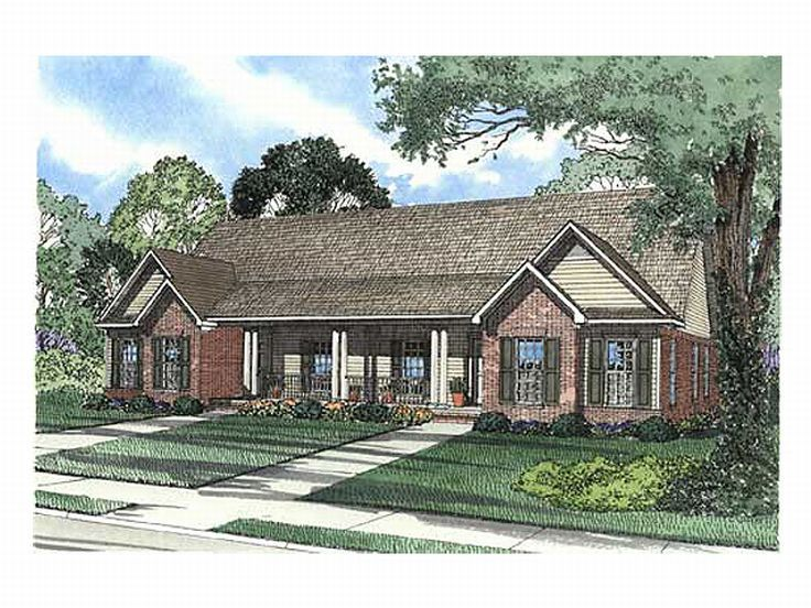 Duplex Home Plan, 025M-0018