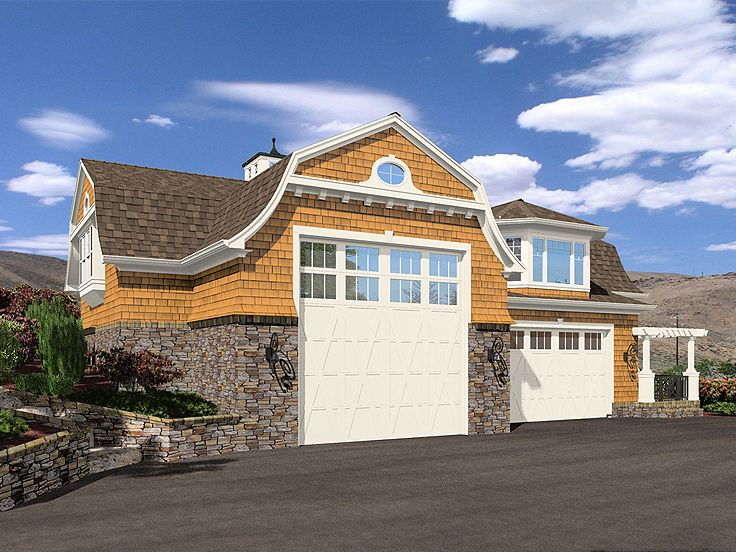 Rv garage plans rv garage plan with second floor for Rv garage plans with living space