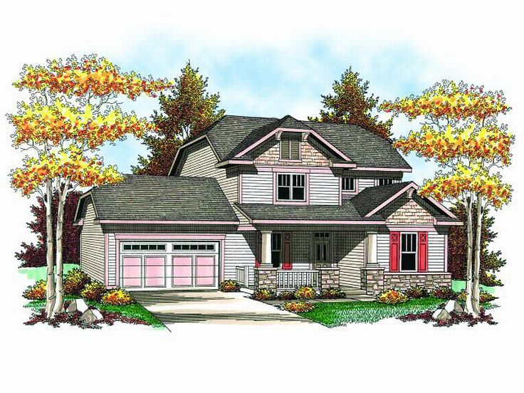 Craftsman House Plan, 020H-0157