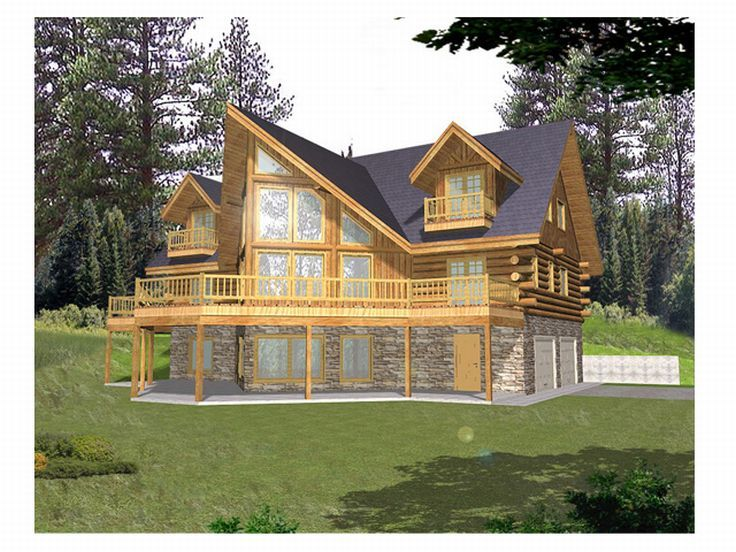 Waterfront Home, Rear, 012L-0031