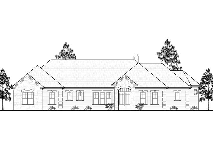 Ranch Home Plan,055H-0013