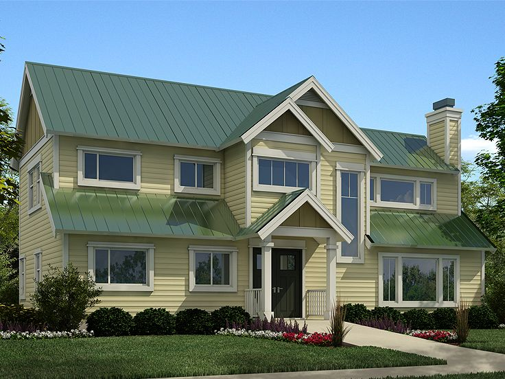 Affordable home plans two story house plan makes a nice for Cheap two story house plans