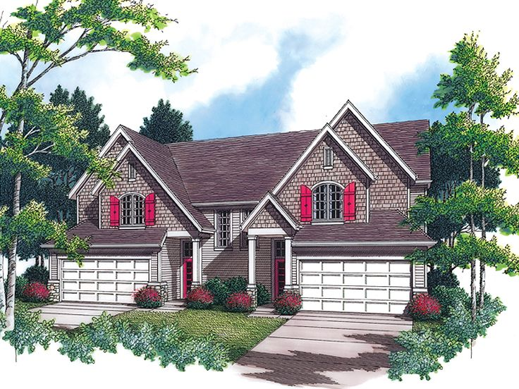 Duplex House Plan, 034M-0004