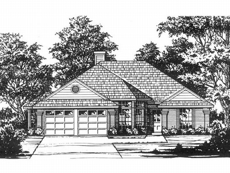 1-Story House Design, 015H-0109