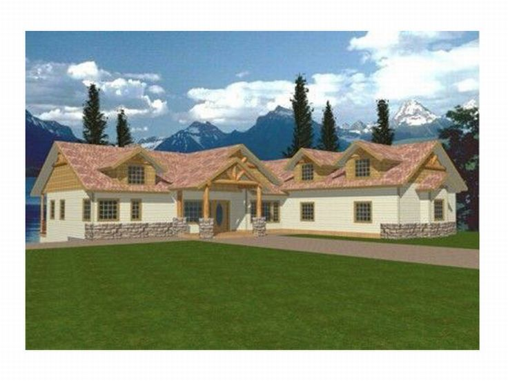 Ranch Home Design, 012H-0007