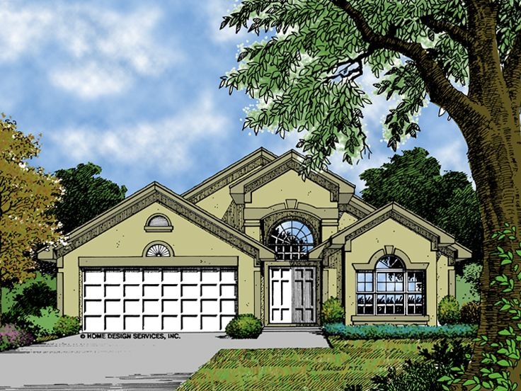 Sunbelt Home Plan, 043H-0053