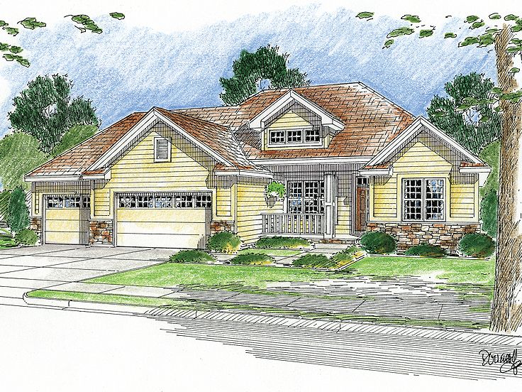 Traditional House Plan, 050H-0081