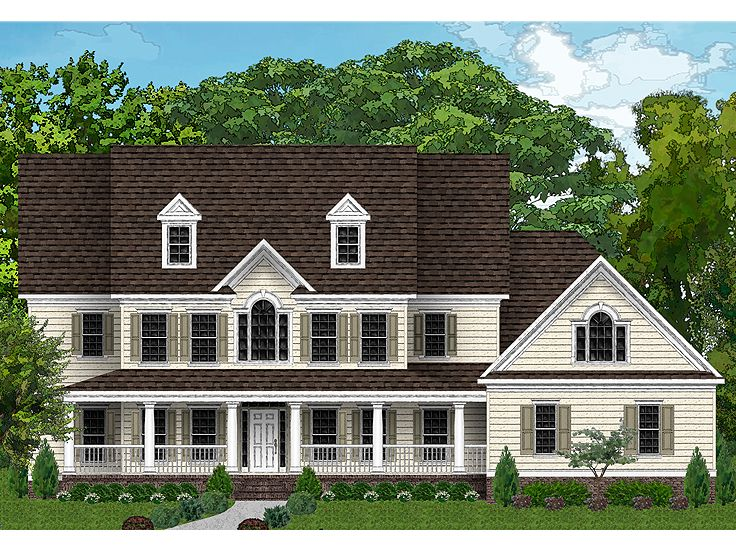 Country House Plans Two Story Luxury Country Home Plan