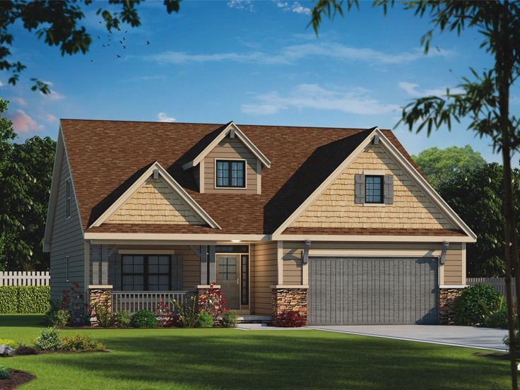 Bungalow House Plan, 031H-0327