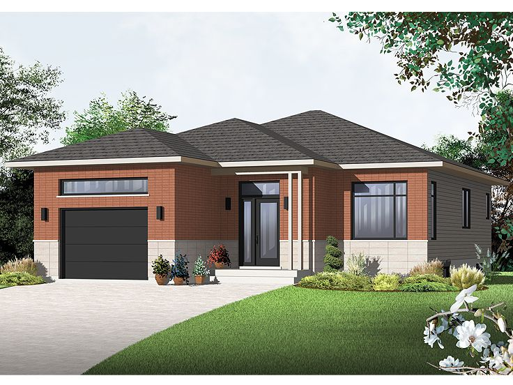 contemporary house plan 027h 0296 - Family House Plans