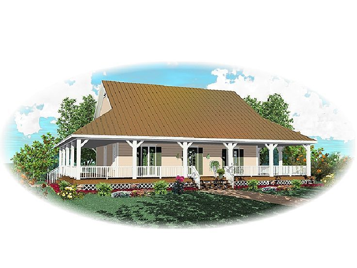 Country House Plan, 006H-0055