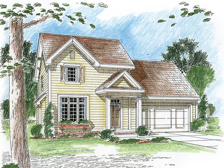 Two-Story Home Design, 050H-0071