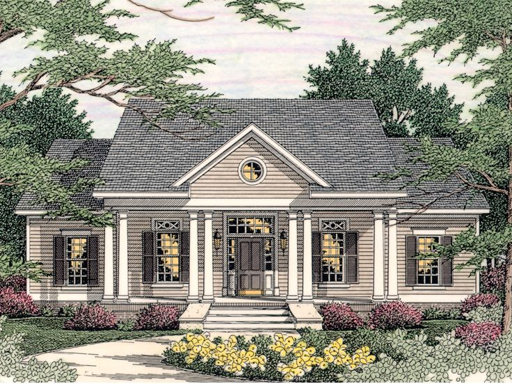 Southern Colonial Designs and Southern House Plans, Blueprints for