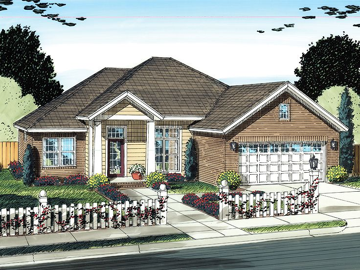 Ranch Home Plan, 059H-0132