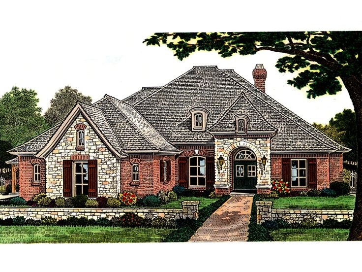 Plan H    Find Unique House Plans  Home Plans and Floor    European Ranch House  H