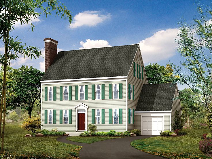 Colonial House Plan, 057H-0003