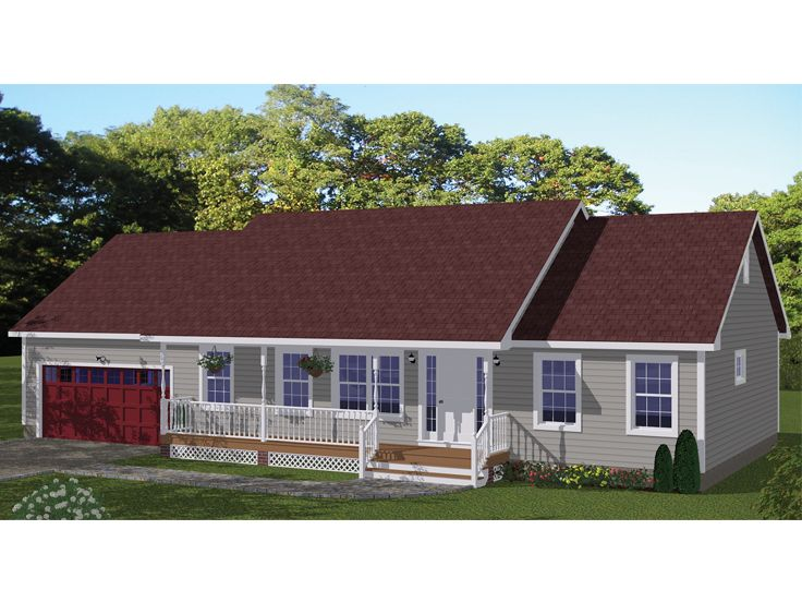 Country Ranch House Plan, 078H-0071