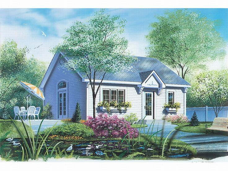 Cottage Home Plan, 027H-0002