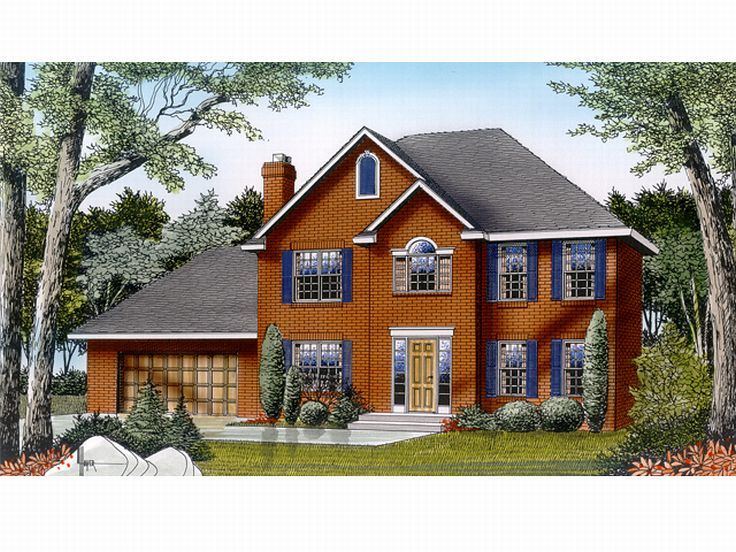 Colonial House Plan, 026H-0003