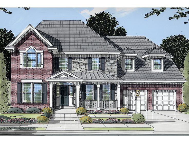 European House Plan, 046H-0018