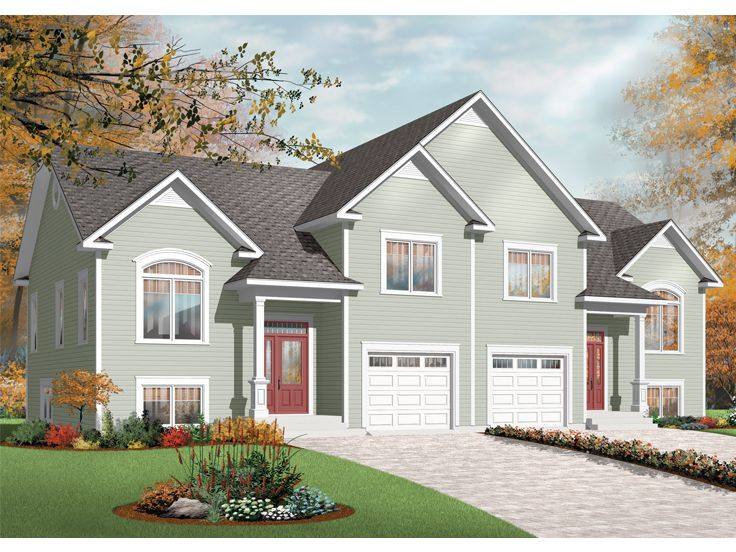 Duplex Home Plan, 027M-0036
