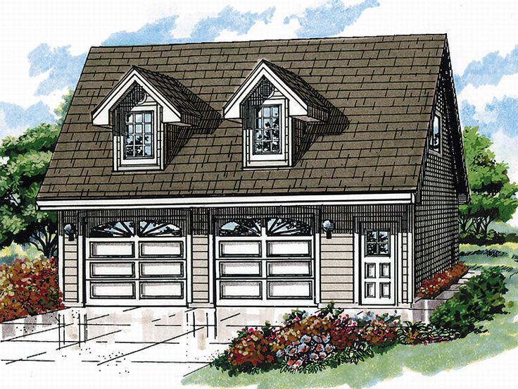 Garage Apartment Plans | 2-Car Garage Apartment Plan with Dormer ...