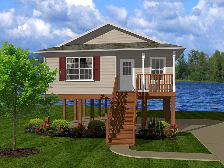 Waterfront Home Plan, 004H-0100