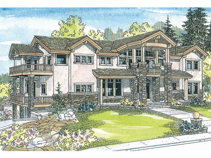 Premier Luxury Home Plan, 051H-0107