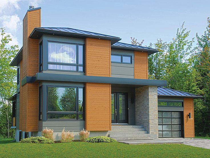 Contemporary House Photo Plan, 027H-0336