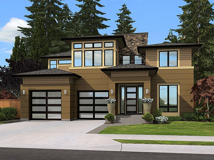 Contemporary House Plan, 035H-0133