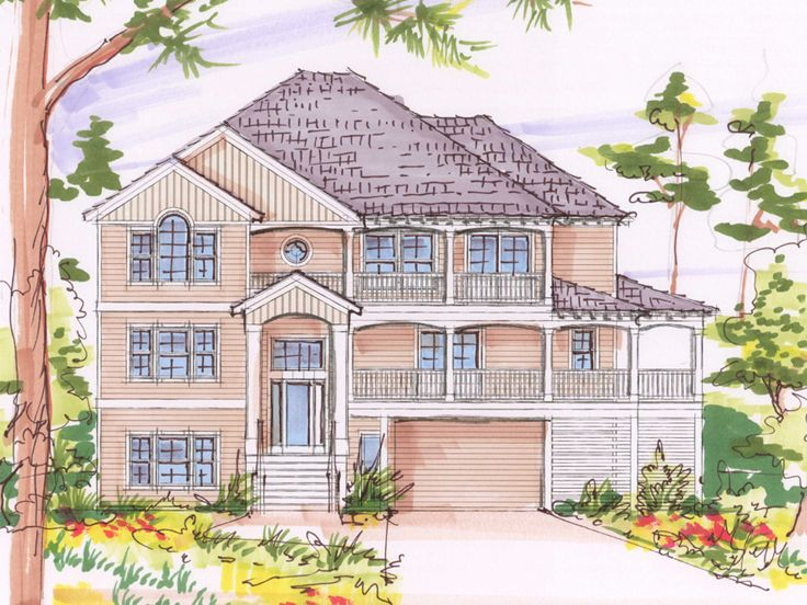 Coastal Home Plan, 041H-0118