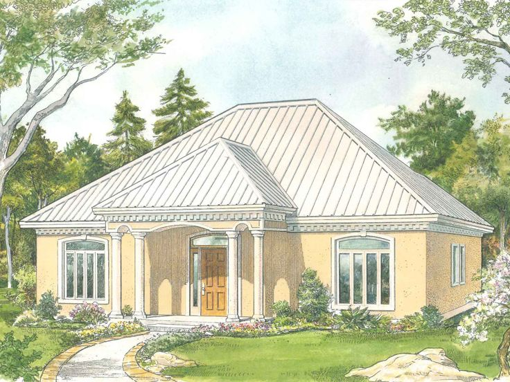 Empty Nester House Plans Sunbelt Style Empty Nester Home