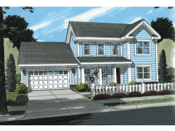 Two-Story House Plan, 059H-0023