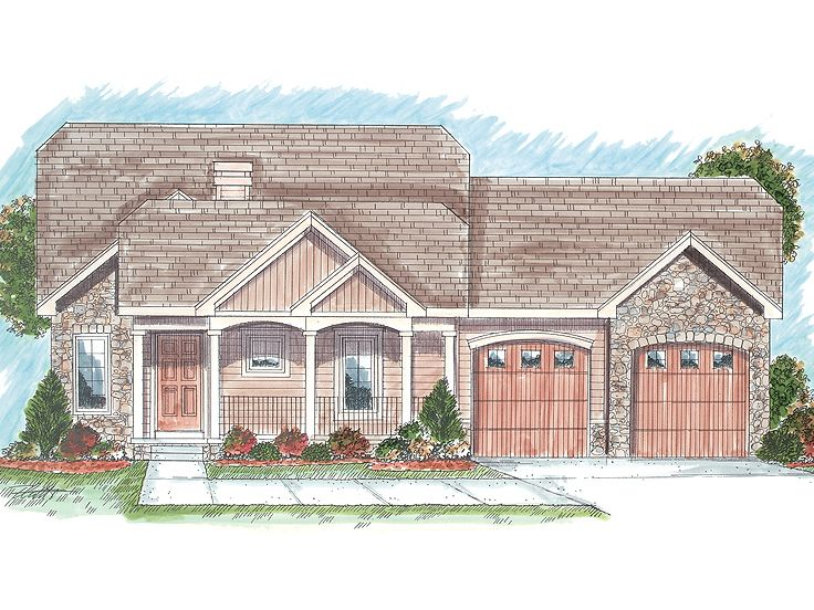 Ranch House Plan, 050H-0024