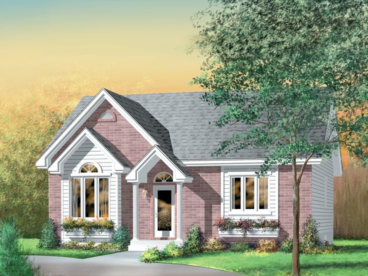 Empty-Nester House Plan, 072H-0032