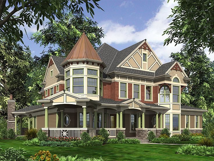 Victorian House Plan, 035H-0090