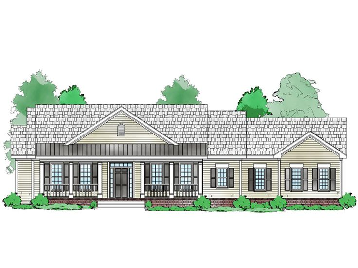 One-Story House Plan, 053H-0074