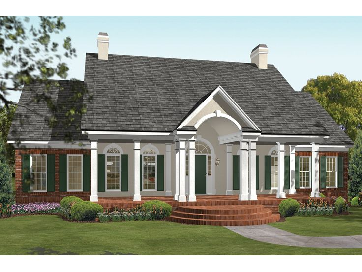 Plan 042h 0002 find unique house plans home plans and for Southern house plans with photos