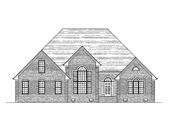 Ranch House Plan, 058H-0078