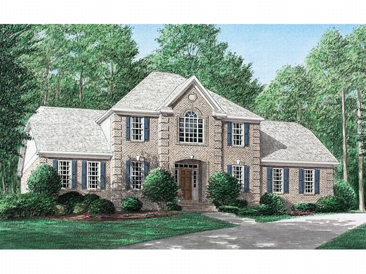 Two-Story House Plan, 011H-0018