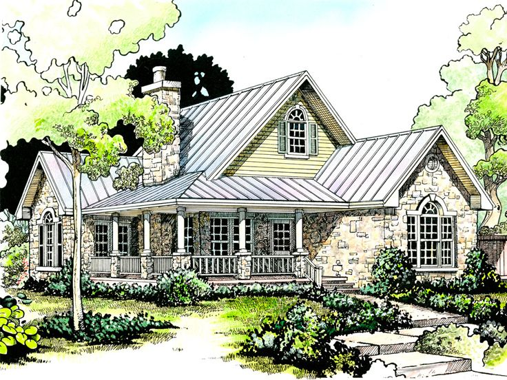 Delightful Country House Plan, 008H 0003