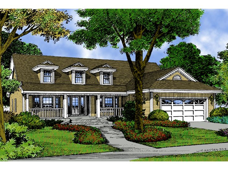 Country House Plan, 043H-0048