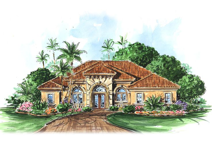 Sunbelt Home Plan, 037H-0091