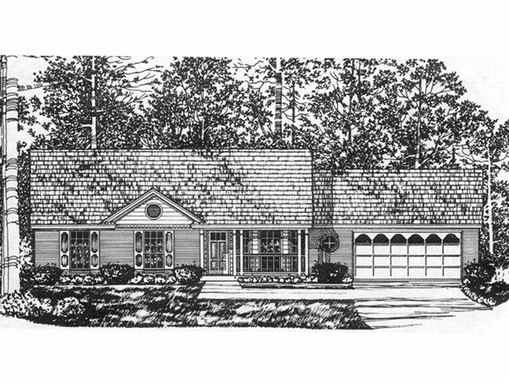 Ranch House Plan, 015H-0010